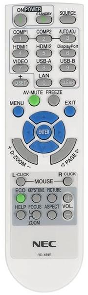 NEC M353WS Remote