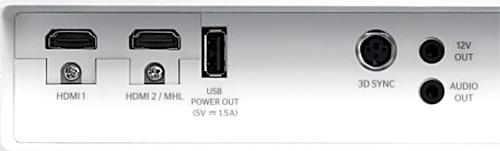 Optoma HD27e Rear Panel