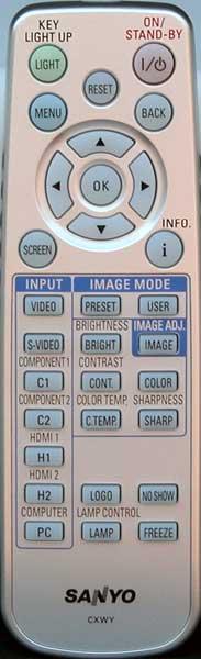 Sanyo Z2000 Remote