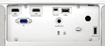 epson 3700 review, rear panel