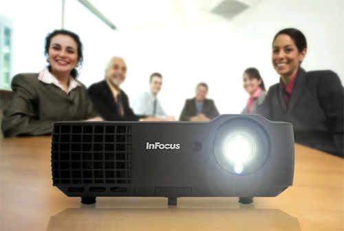 Infocus In1118hd at home in a conference room
