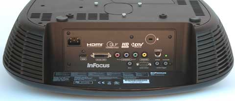 InFocus IN82 Rear View, Inverted Ceiling Mount orientation