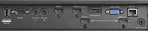 Optoma 4K500 4K Projector Connection Panel