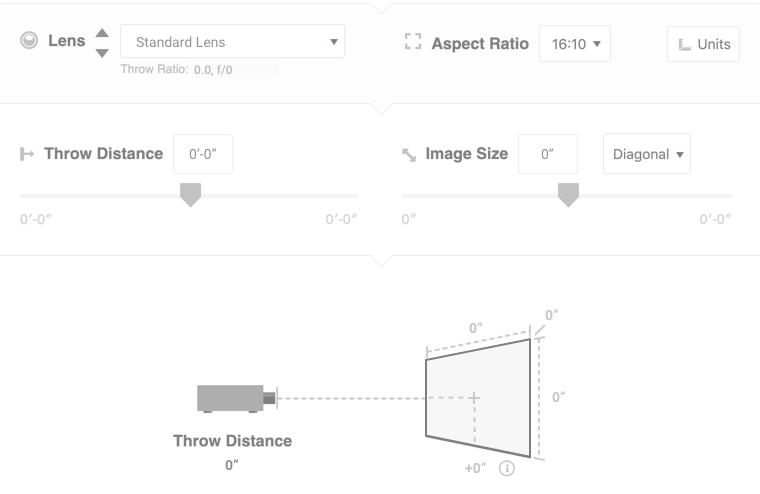 Projector Calculator | Projector Screen Calculator | Aspect