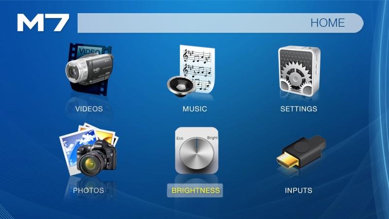 AAXA M7 interface