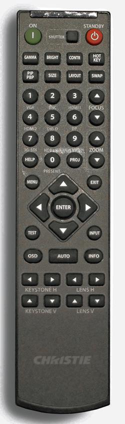Christie D16HD HS remote