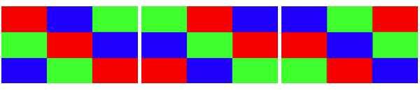 Color brightness measuring pattern