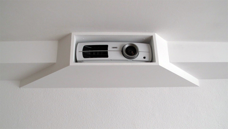 Cubby mounted projector 800