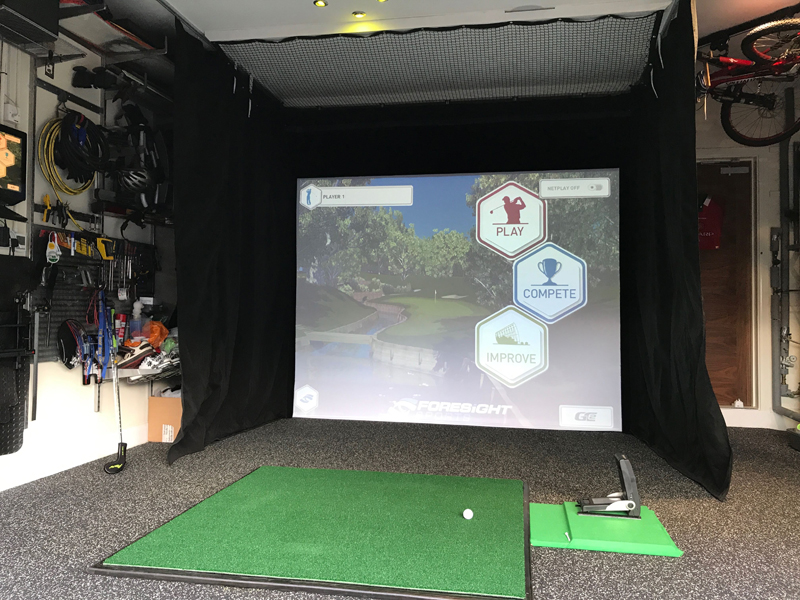 DIY garage sim golfsimforum 80