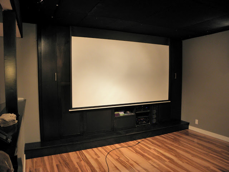 Dual purpose sim theaterscreen 800