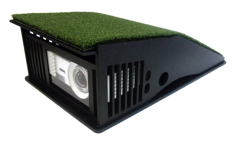 GolfSim floor projector enclosure 800