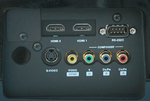 JVC DLA-RS1 connection panel