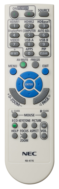 NEC MC382W remote