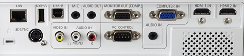 NEC M353WS Connection Panel