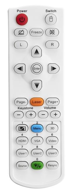 Optoma ZH403 Remote