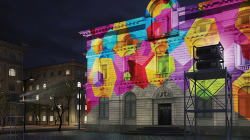 projection mapping on a building
