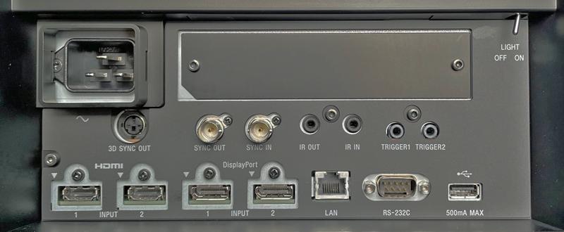 Sony VPL GTZ380 Connections