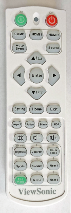 ViewSonic LS7004K remote