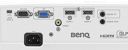 BenQ HT1070A review back panel