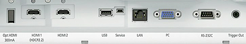 Epson 6040UB and 5040UB connection panel