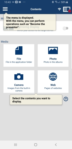 mc382w app screen