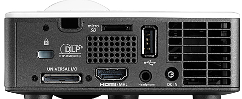 Optoma ML750ST rear panel